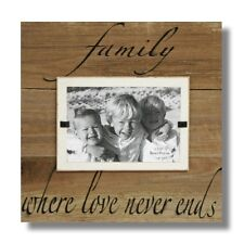 FAMILY LOVE FRAME BEACH WALL ART RECLAIMED BARNWOOD PICTURE RUSTIC SIGN VALENTIN