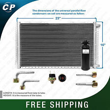 CNFP1623KT Kit AC A/C Universal Condenser Parallel Flow 16 x 23 Oring with Drier