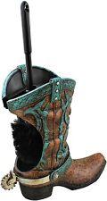 Decorative Cowboy Boot w/ Spur Toilet Bowl Cleaner Brush & Holder Set