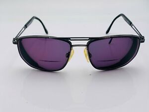 Vintage Sergio Tacchini ST1006 Gray Metal Aviator Sunglasses Italy FRAMES ONLY