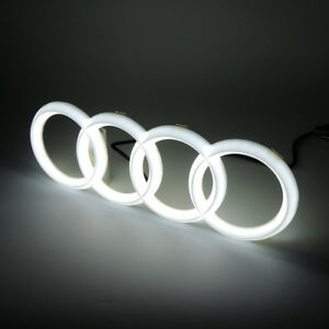 Motors Front Led Grille BlLED Logo Emblem Light Bulb For Audi A1 A3 A4 A5 RS3