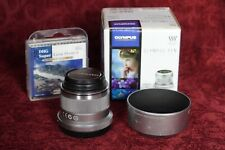 Olympus M.Zuiko 45mm f/1.8 Silver Lens for Micro 4/3 + Hood LH-40B + Filter