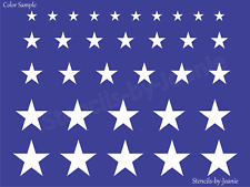Joanie Star Stencil Multiple Sizes Flag Patriotic Americana Border Template Art
