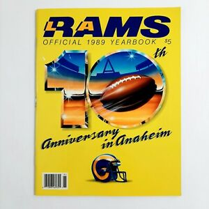 Vintage 1989 Los Angeles Rams Official Yearbook 10th Anniversary Anaheim NFL