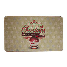"Soft Cotton & Linen Merry Christmas Printing Rubber backed Doormat 30""X18"""