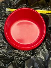 """Petmate 100% Melamine No Tip Heavy plastic Xs dish 5x5x1"""" red slope"""