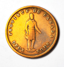 1852 2S Canada Large One Penny Token Two Sous Quebec Bank Tn21