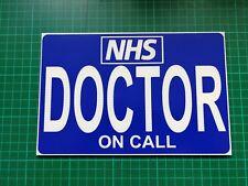 DOCTOR ON CALL DASHCARD NURSE Medic Paramedic GP FIRST RESPONDER First Aid Aider