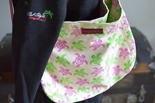 Bungalow 360 Übër Cute Pink & Green Turtle Messenger Bag! Washable & Quality