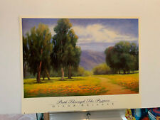 Diana Reineke PATH THROUGH THE POPPIES print poster 31X25 Never framed!