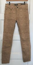 Khaki Reptile Print Women's Urban Outfitters High Rise Ankle Jeans Size 27 X 30