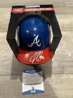 Ozzie Albies Autographed Braves Mini Helmet Signed Ozzie Atlanta Braves Beckett