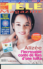 TELE MAGAZINE 2361 (3/2/2001) ALIZEE GODRECHE WILL SMITH JENNIFER LOPEZ KAAS