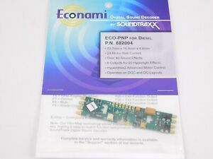 Soundtraxx Econami ECO-PNP 882004 DCC / SOUND Decoder for Diesels 6-Func 2-Amp