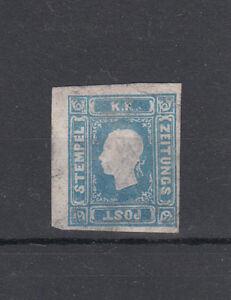 Österreich Nr. 16 a hellblau, ungebraucht (*), Fenster, repariert oben rechts
