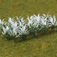 100pcs Flower Model Train Railway Scenery Flowering Plants 1:100 Scale White