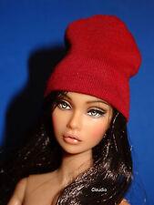 DARK-RED BEANIE HAT 1:6 for Fashion Royalty Dolls Poppy Parker Dynamite Girls