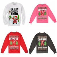 New Kids Unisex Limited Edition Ugly Christmas Dabbin Sweatshirt Xmas FUNNY GIFT