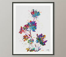 Flower Watercolor Print Abstract Canvas Art Nature Flowers Housewarming Gift-526