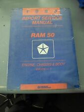 1993 Ram 50 Import Service Manual Engine, Chassis & Body Volume 1 FREE SHIPPING
