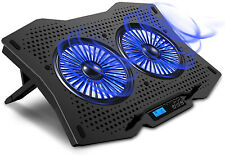 """Laptop Cooling Cooler Pad for 15.6"""" - 17.3"""" Notebook, Metal Panel, 2 Turbo Fans"""
