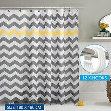 Modern Wavy Stripes Waterproof Bathroom Partition Shower Curtain 180X180CM