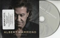 ALBERT HAMMOND In Symphony 2017 UK 12-trk promo CD