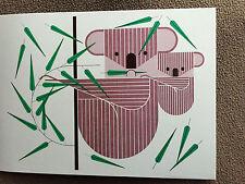 CHARLEY CHARLES HARPER   KOALAkoola  New Art print Koala and baby on bamboo