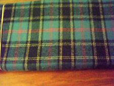"100% Cotton Plaid Flannel Fabric Remnant BLACK BLUE Approximately 14""x24"""