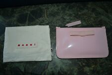 Marni Pink Leather Pouch new / dust bag