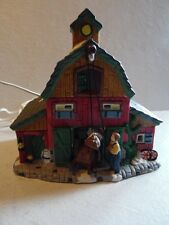 Copperfield Keepsake Christmas Village Porcelain Lighted House Farm Barn