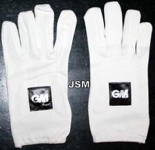 GM FULL Finger Cricket Batting Inners for Gloves + Both LH or RH + COTTON +MENS