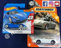 Matchbox / Hot Wheels - Lot of 2 - NEW PORSCHE 911 Carrera CABRIOLET & 918 C119