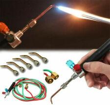 Mini Jewelry Gas Torch Kit w/ 5 Tips Welding Soldering Micro Cutting Tool Set