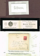 CANADA NUMERAL ISSUE QUEEN VICTORIA MOURNING CARD (MOV8