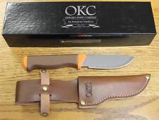 NEW Ontario Knife Company 7534 Cayuga Hunter Fixed Blade Knife & Leather Sheath