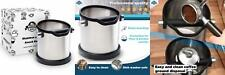 Espresso knock box and coffee grind dump container. Stainless steel. Large...