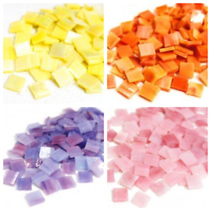 Mini Stained Glass Mosaic Tiles - Choice of Colours - 50g