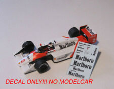 Decals Mclaren MP4/3 1/43 Prost Johansson minichamps