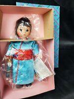 "Vintage Madame Alexander 7.5"" Black Hair Girl Japan Sleepy Eyes Doll  #570 MIB"