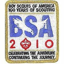5 SET LOT BOY SCOUT BSA OFFICIAL 2010 100th YEAR ANNIVERSARY PATCH LOGO EAGLE