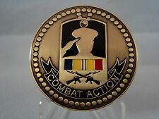 ARMED FORCES COMBAT ACTION RIBBON MEDAL CHALLENGE COIN ARMY MARINE CORPS NAVY