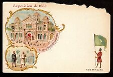 1900 Flag of Asie Mineure Anatolia Penninsula Paris Exposition France postcard