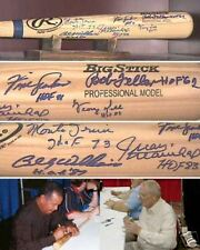HALL OF FAME AUTOGRAPHED BAT (6 SIGNATURES!) W/ PROOF!