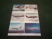 1987 SHORTS BROTHERS BOEING 747 757 737-300 FOKKER 100 BAE 146 LEAFLET Brochure