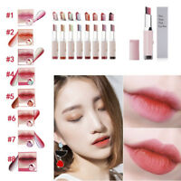 Korean Makeup Two Tone Long Lasting Nude Lipstick Lip Gloss Beauty Cosmetics