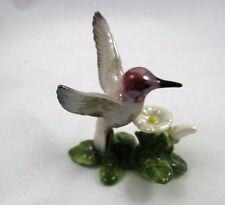 Hagen Renaker miniature made in America Hummingbird on Flower