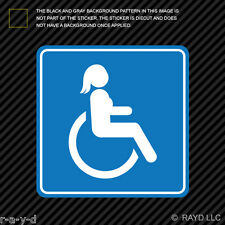 Female Handicap Sticker Die Cut Decal Self Adhesive Vinyl wheelchair accessible