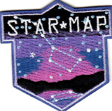 """STAR MAP""- Iron On Embroidered  Patch/Outer Space, Astrology, Stars"