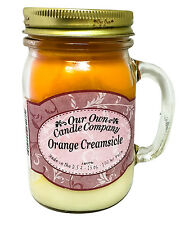 Orange Creamsicle Scented Candle in 13 oz Mason Jar by Our Own Candle Company